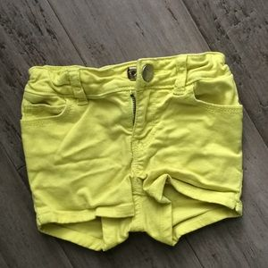 Lime Green Baby Gap Jean shorts Size 2 years